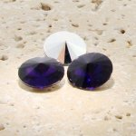 Amethyst - 18mm. Round Rivoli Rhinestone Jewels - Lots of 144