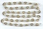 "Crystal, Matte Crystal & Gold 10mm Link Cable Chain- 39"" per Lot"
