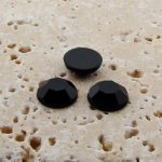 Jet Faceted - 5mm Round Cabochons - Lots of 144