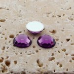 Light Amethyst Faceted - 5mm Round Cabochons - Lots of 144