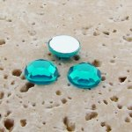 Blue Zircon Jewel Faceted - 5mm. Round Cabochons - Lots of 144