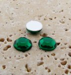 Emerald Jewel Faceted - 5mm. Round Cabochons - Lots of 144