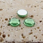 Peridot Jewel Faceted - 5mm. Round Cabochons - Lots of 144